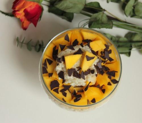 veganer Milchreis mit Mango