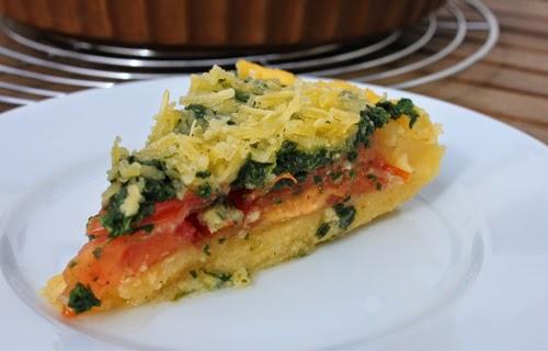Vegane Gemüsetarte mit Polentaboden