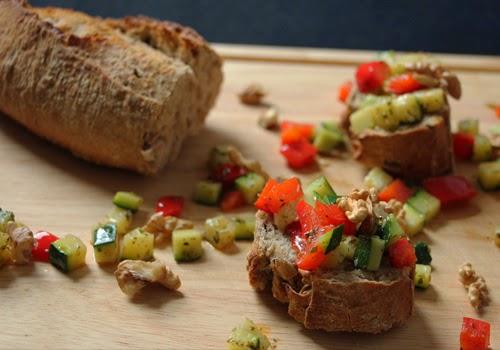 Vollkorn-Baguette-Häppchen