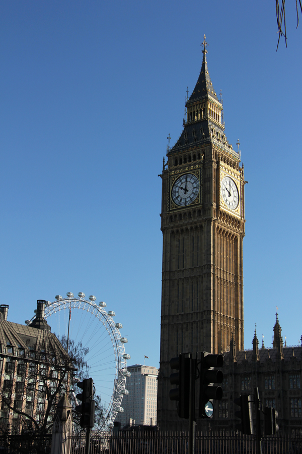 Big Ben und London Eye