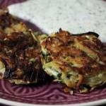 Rezept: Zucchini-Kartoffelpuffer mit Kräuterdip