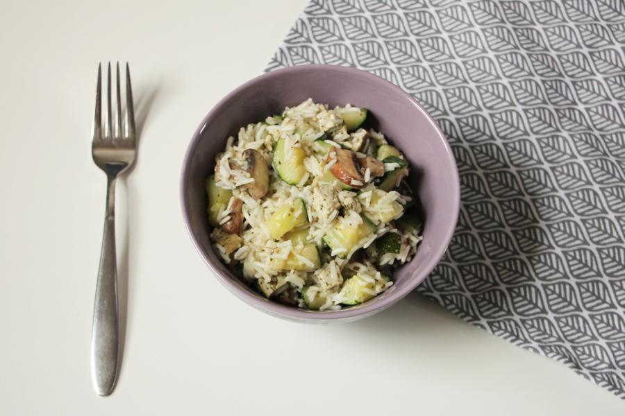 Zucchini-Reis Pfanne 1
