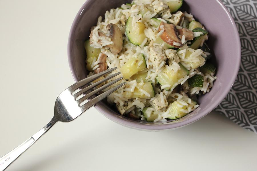 Zucchini-Reis Pfanne 3