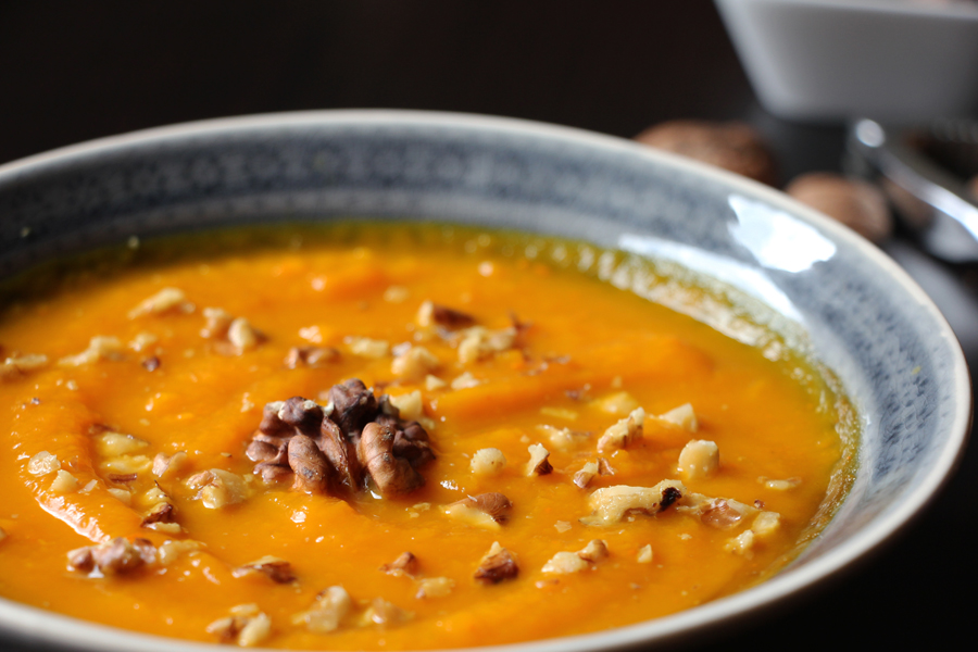 Kürbis Süßkartoffel Suppe 3