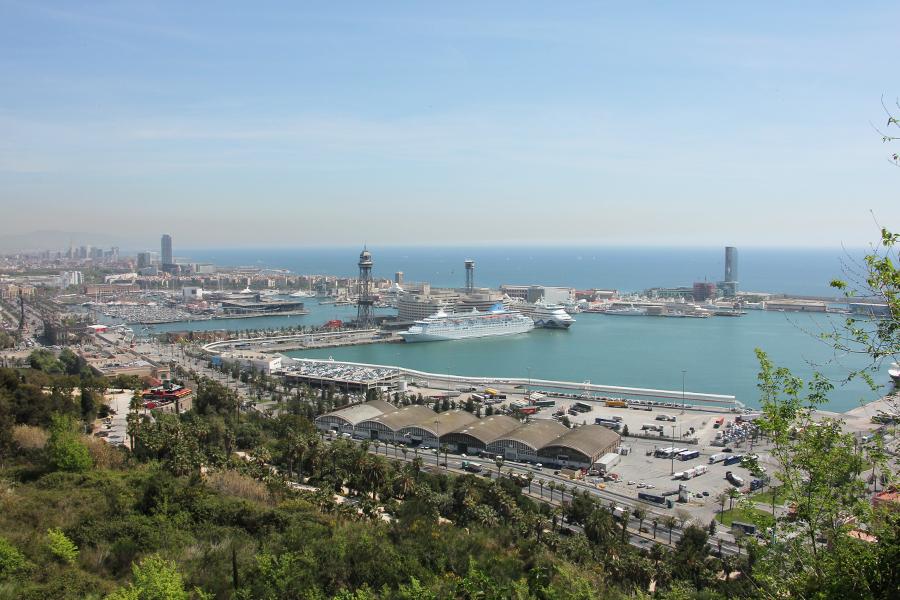Barcelona, Montjuic, Aussicht