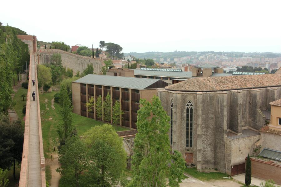 Girona, Katalonien, Stadtmauer