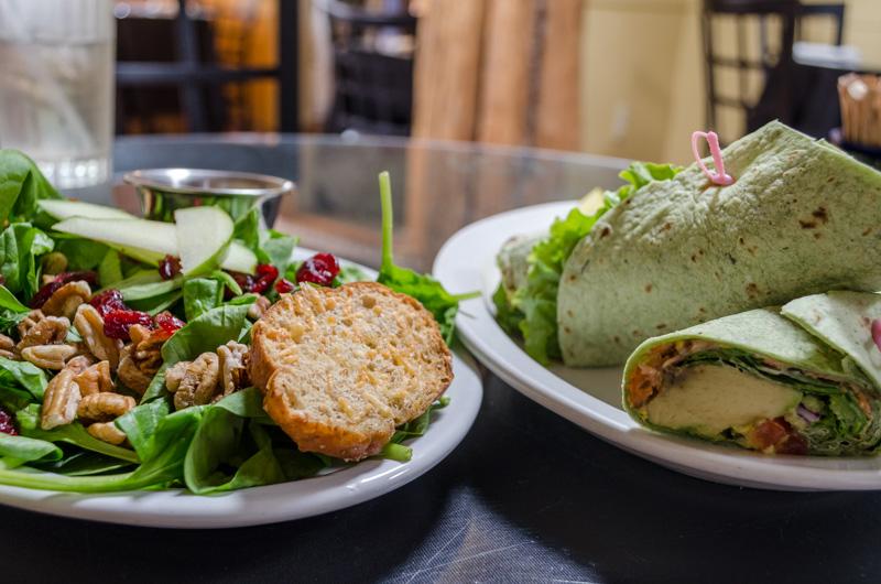 Vegane Avocado-Gemüse Wraps in New Mexiko