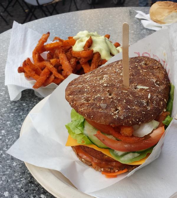 veganer Burger von der Bibu