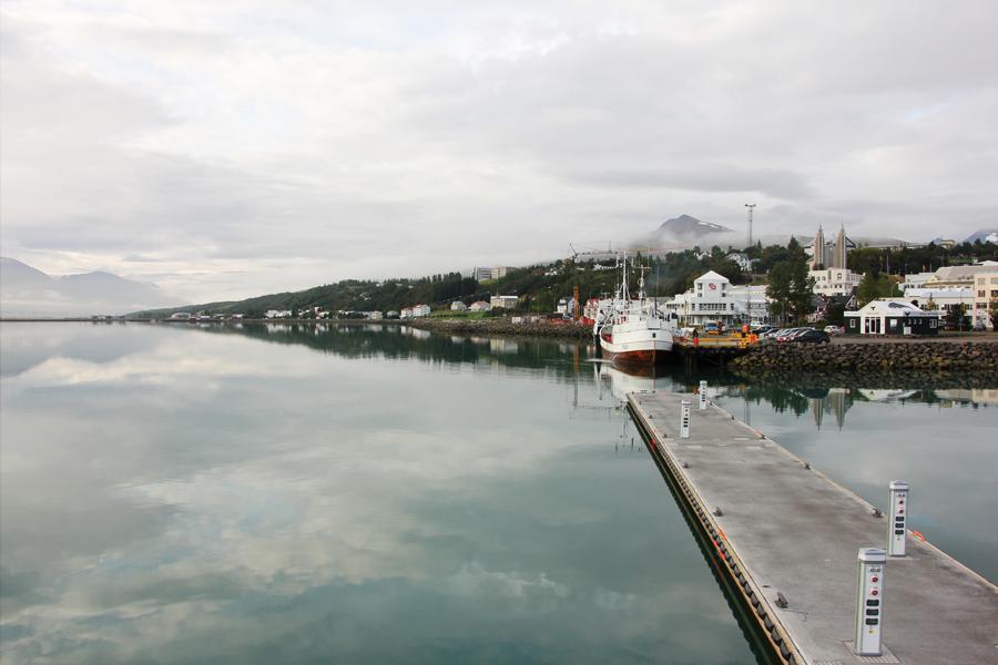 Hafen von Akureyri Island