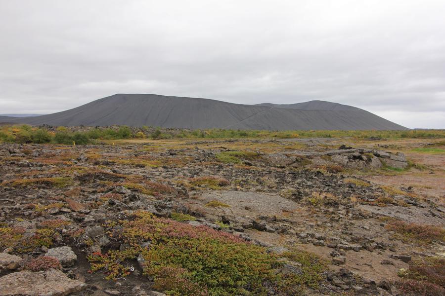 Hverfjall Vulkankrater Island