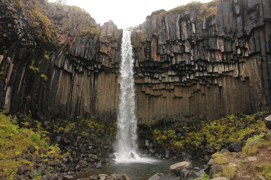 Svartifoss Wasserfall in Südisland