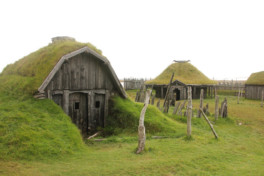 Island Ostfjorde Gletscherregion Vikingerdorf