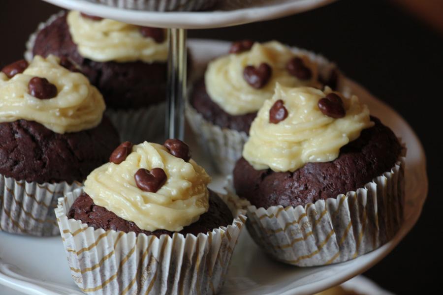 vegane Schoko-Kokos Cupcakes