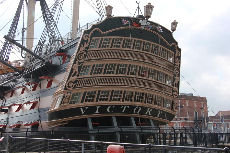 Südengland Roadtrip, Portsmouth Historic Dockyard, HMS Victory