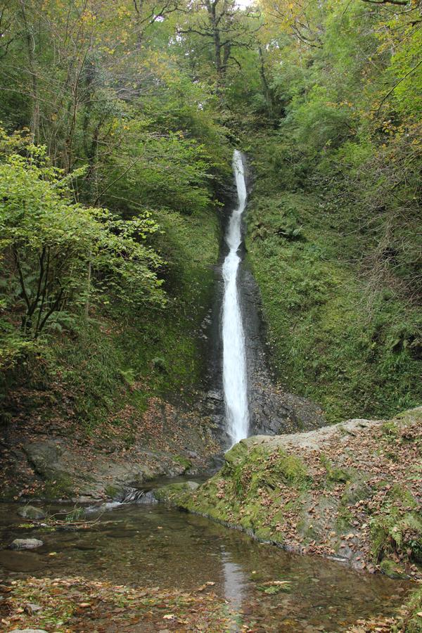 Südengland Roadtrip Lydford Gorge White Lady Wasserfall