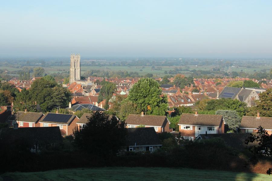 Südengland Roadtrip Blick über Glastonbury
