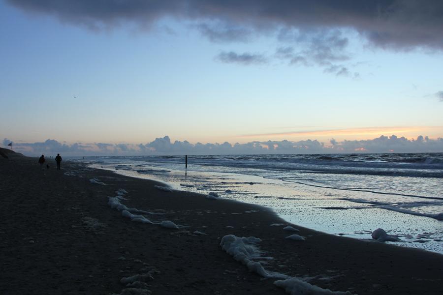 Ein Wochenende auf Texel, Sonnenuntergang