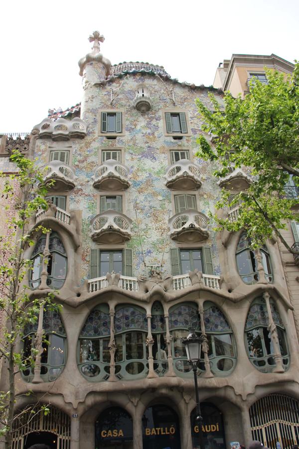 Barcelona Casa Battlo Gaudi Fassade