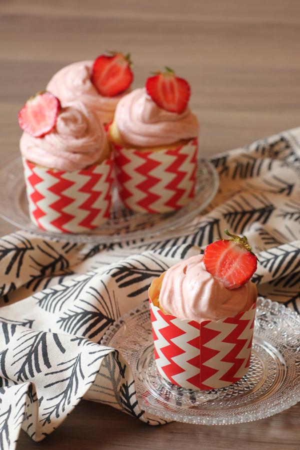 vegane Erdbeer Cupcakes