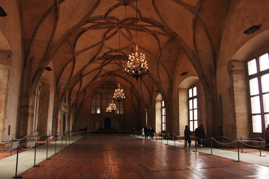 Ein Wochenende in Prag im Advent, Vladislav Saal im alten Königspalast
