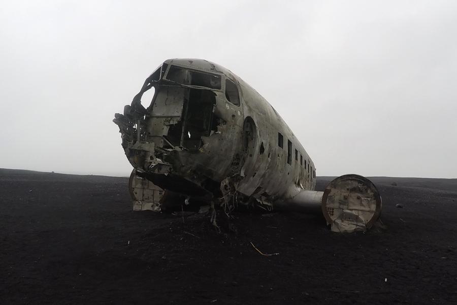 Island, Flugzeugwrack