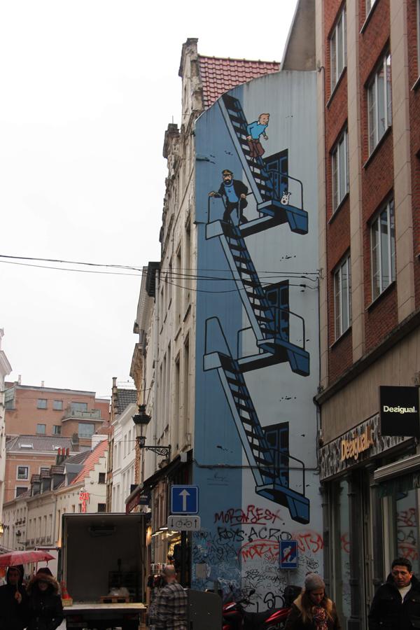 Ein Tag in Brüssel, Comictour, Tim und Struppi