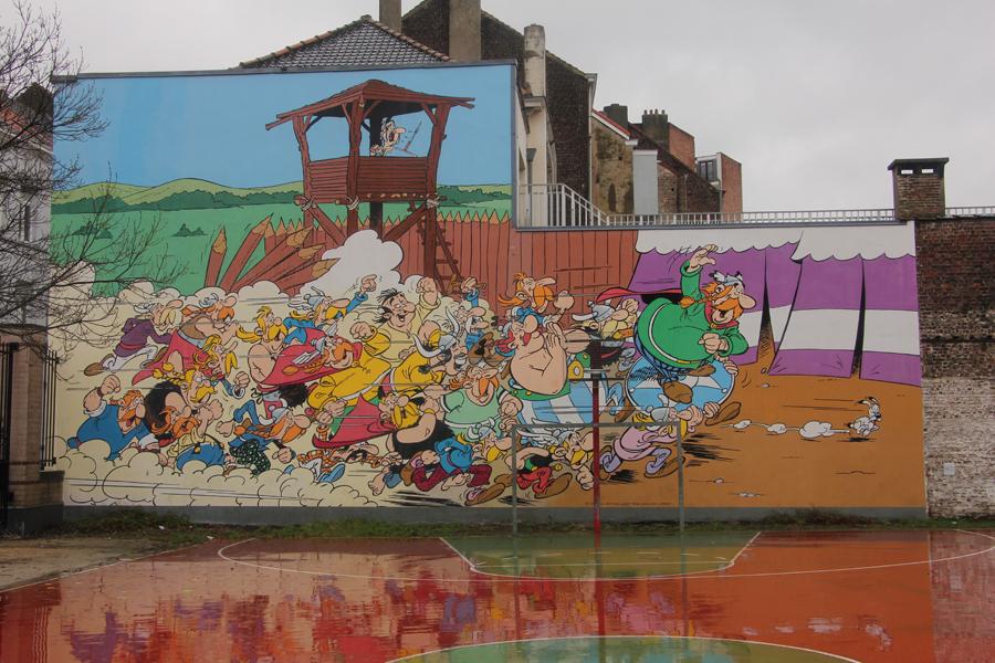 Ein Tag in Brüssel, Comictour, Asterix und Obelix