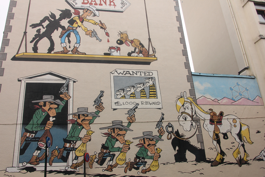 Ein Tag in Brüssel, Comictour, Lucky Luke