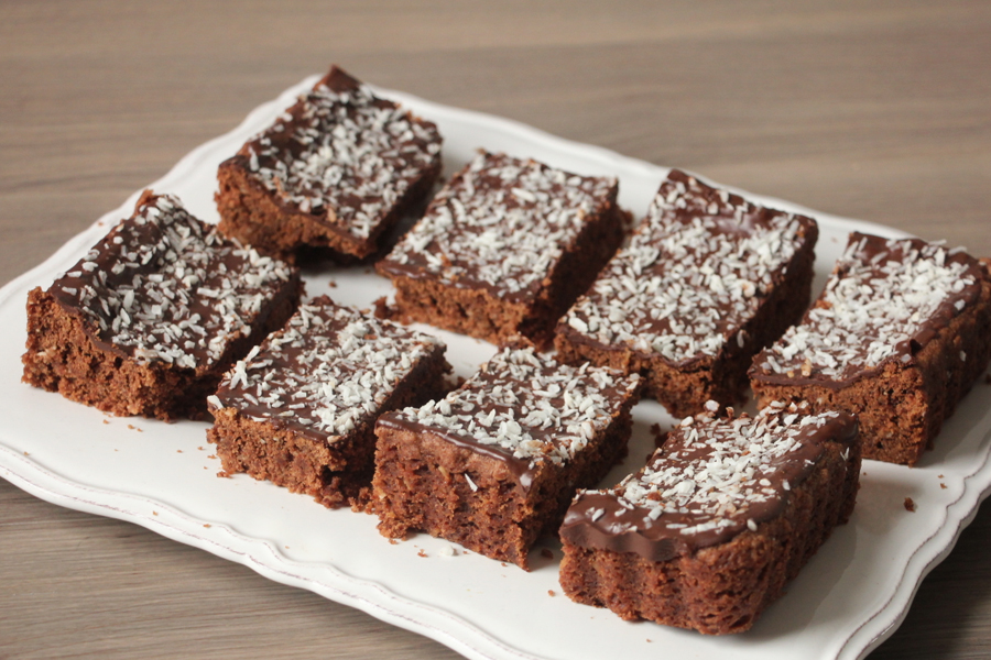 vegane Kokos Brownies