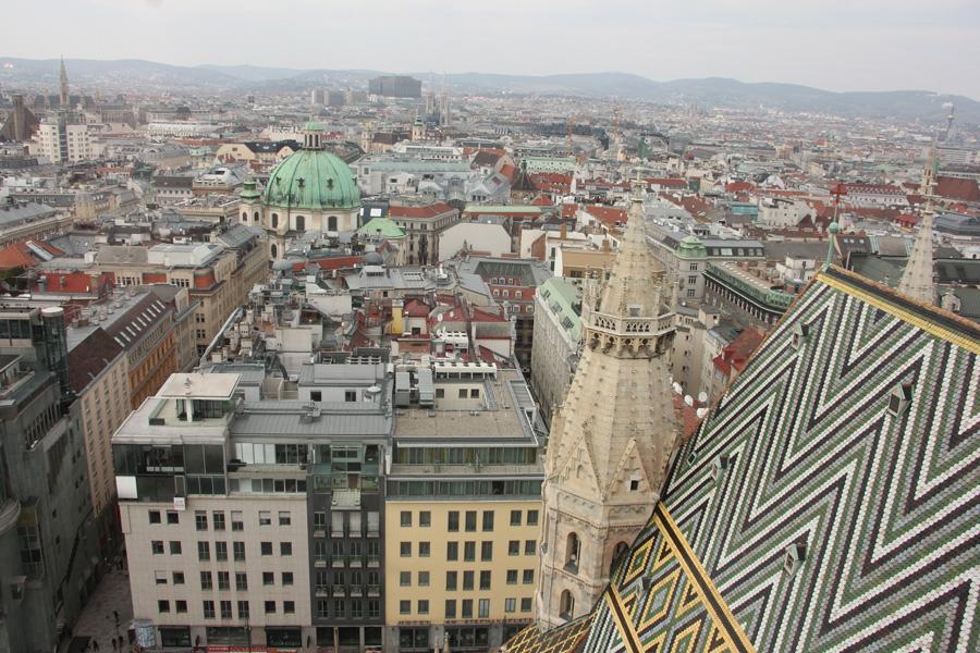 Wien Kurztrip,Stephansdom, Aussicht Südturm