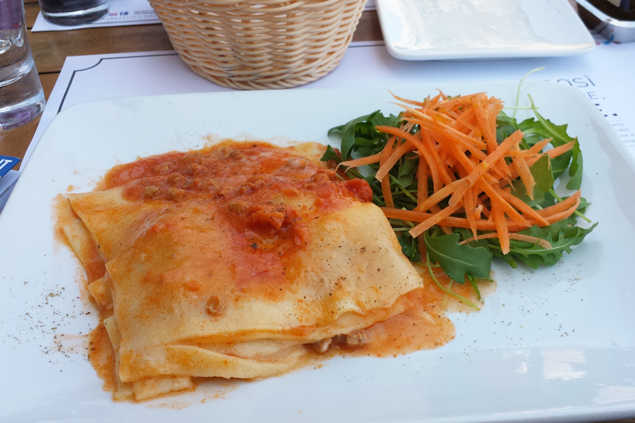 vegane Restaurants in Venedig, vegane Lasagne