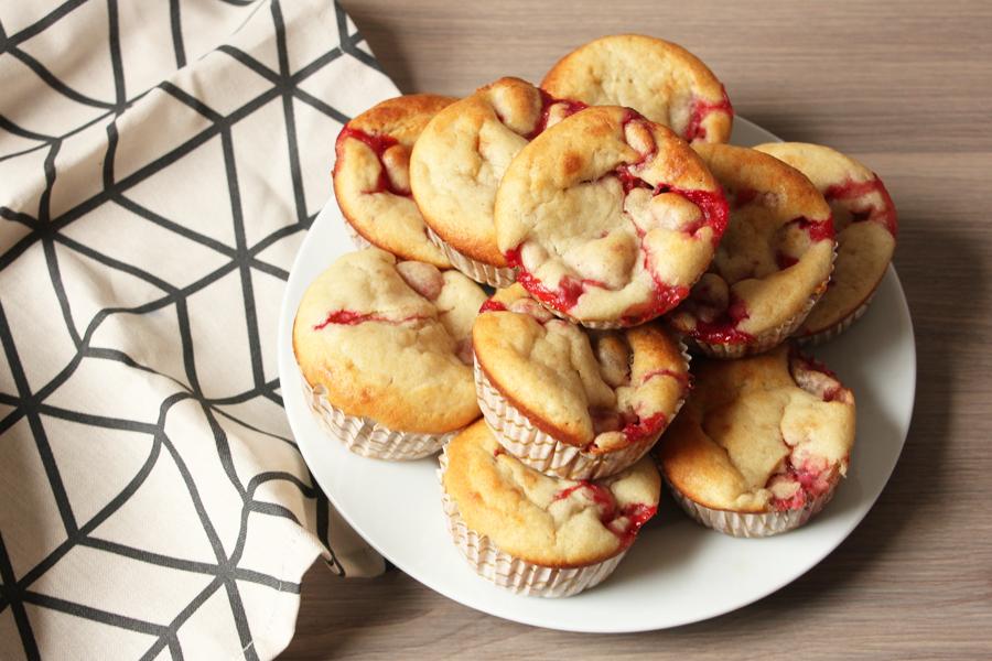 Erdbeer Bananen Muffins