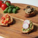 Rezepte aus Italien: dreierlei vegane Bruschetta