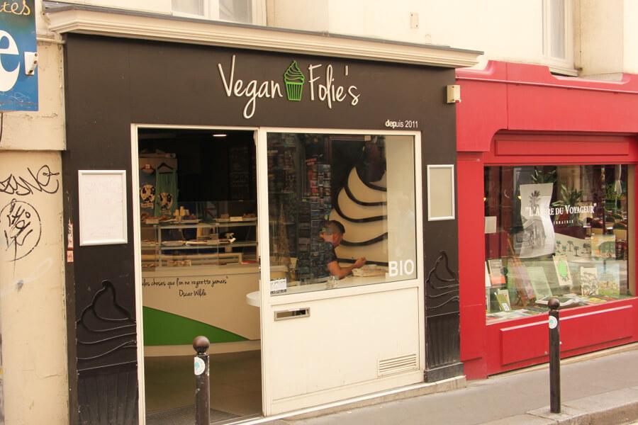 Das Vegan Folie's von außen betrachtet.