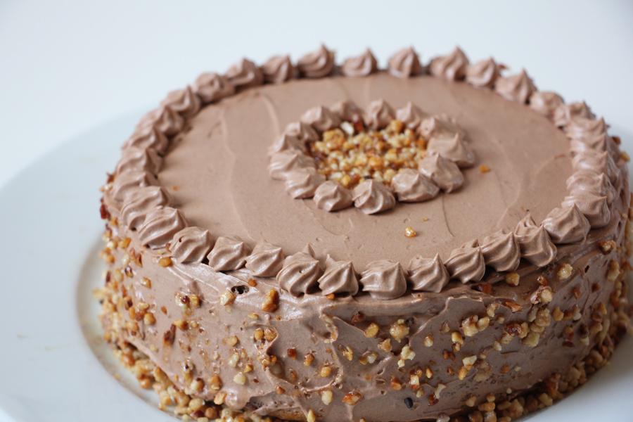 Rezept Vegane Schoko Nuss Torte