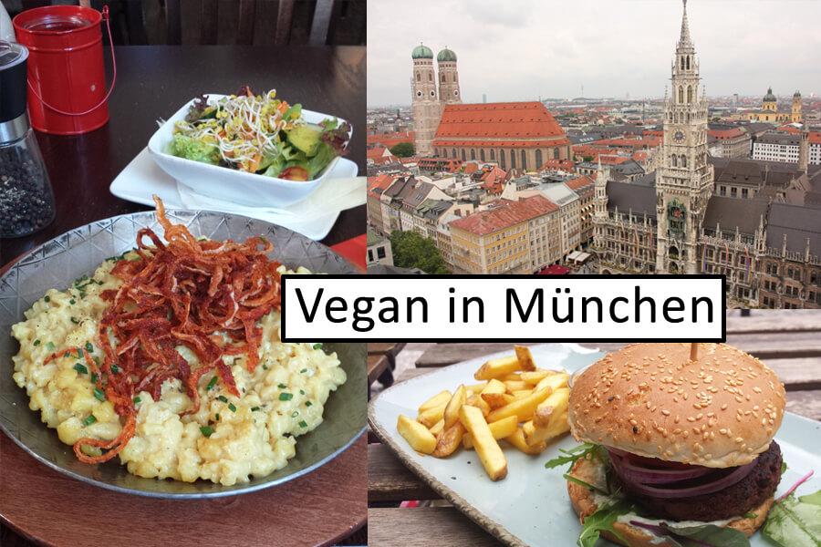 Vegan in München - Titelbild mit Collage