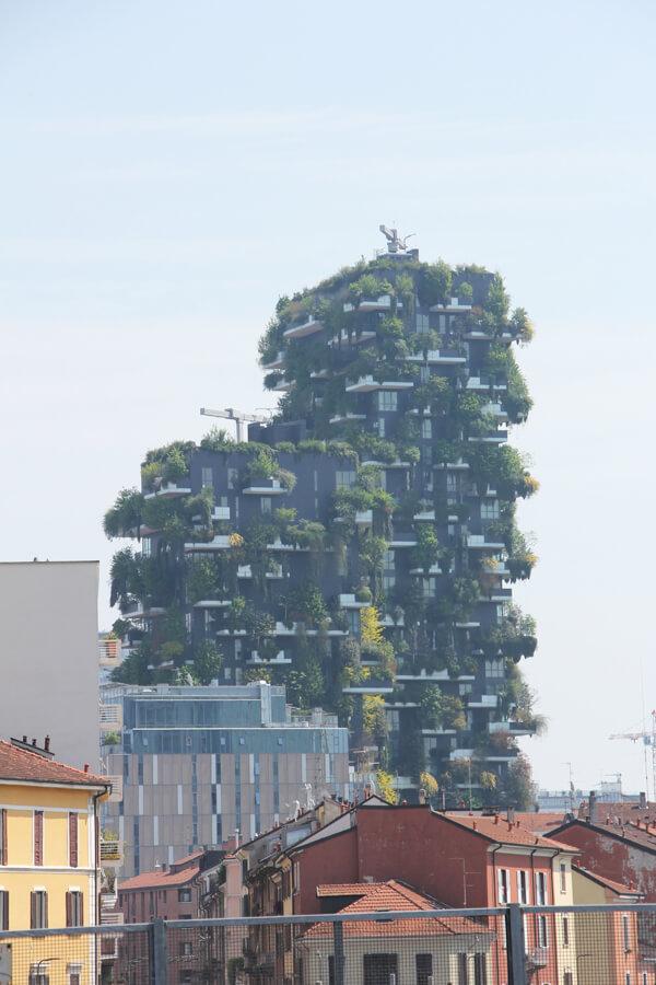 Blick auf die Bosco Verticale in Mailand