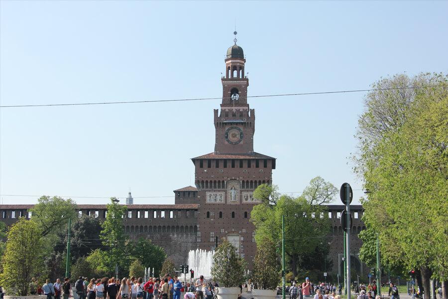 Das Costello Sforzesco in Mailand