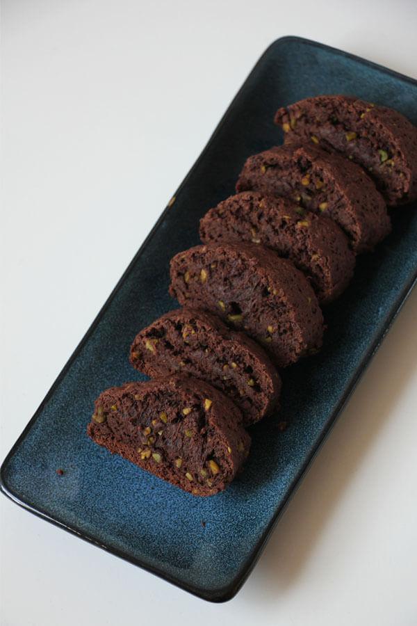 vegane Schoko-Pistazine Biscotti