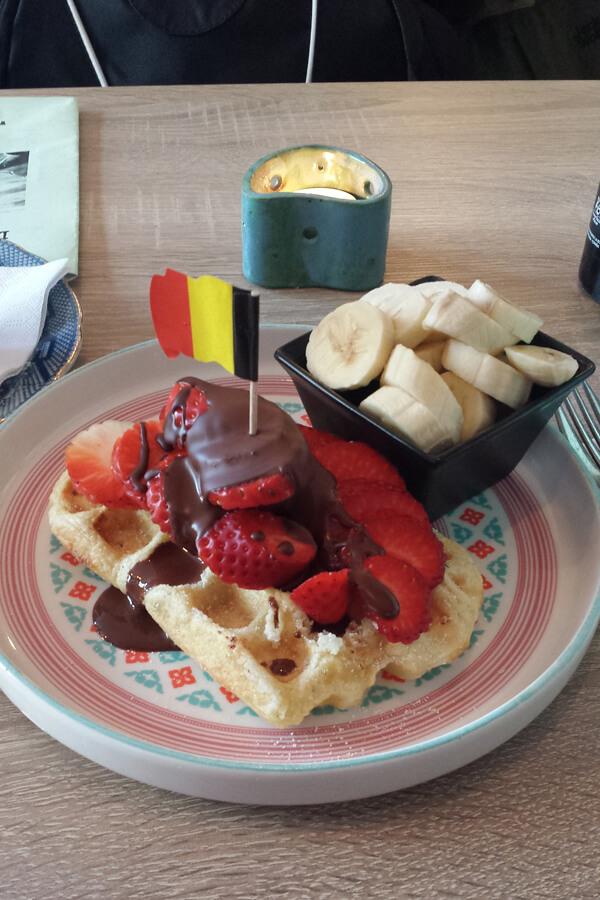 Vegane Waffel in Brügge