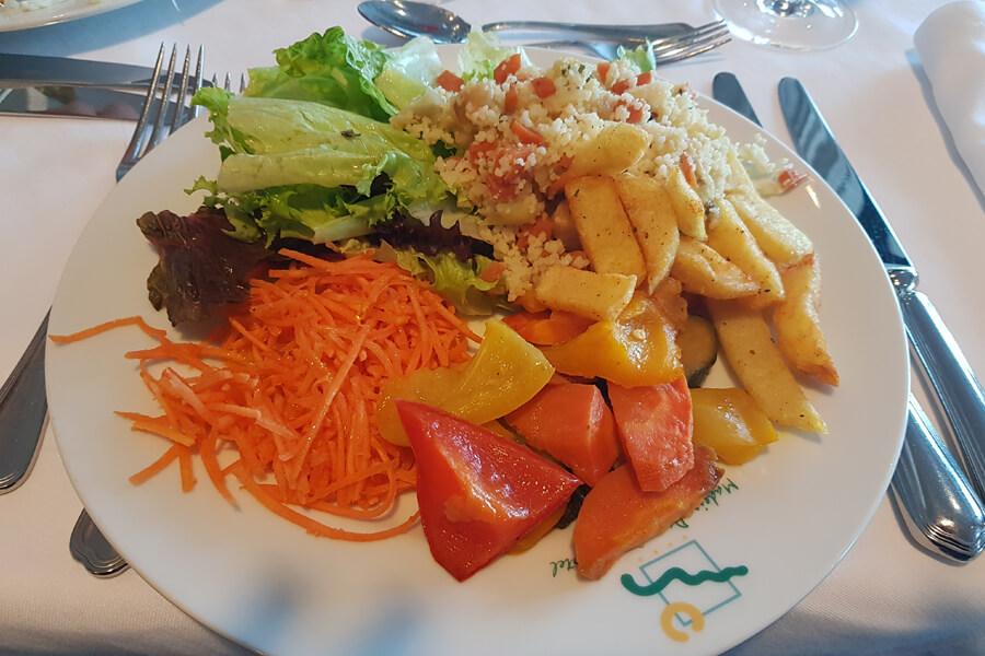 typisches veganes Essen im Madeira Panoramico