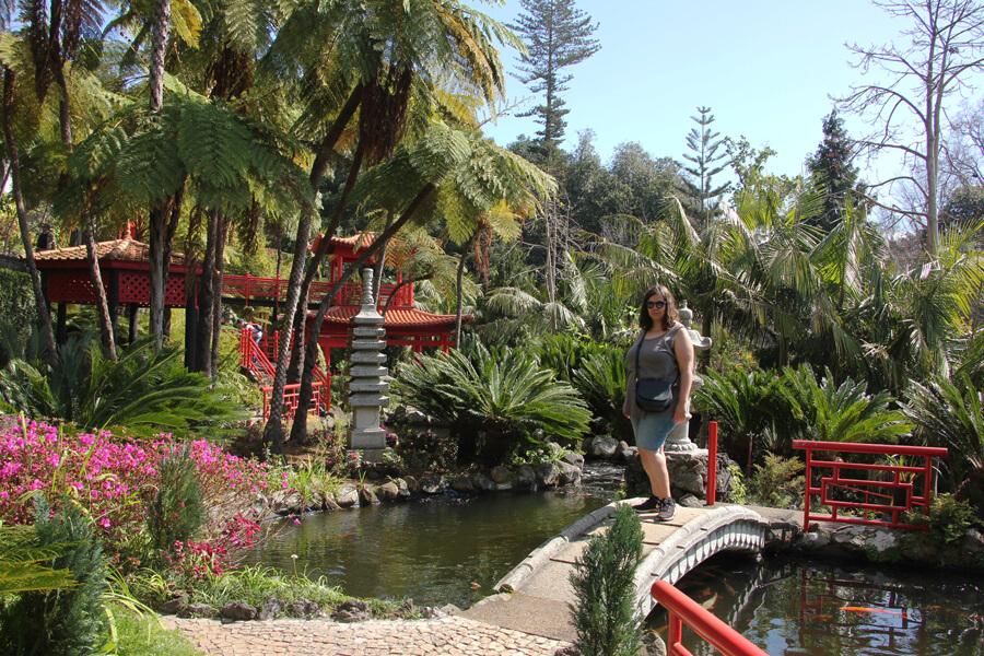 Im japanischen Garten im Monte Palace Madeira.