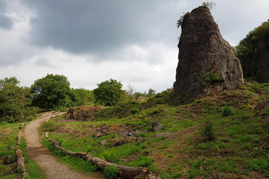 Steinbruch auf dem Stenzelberg.