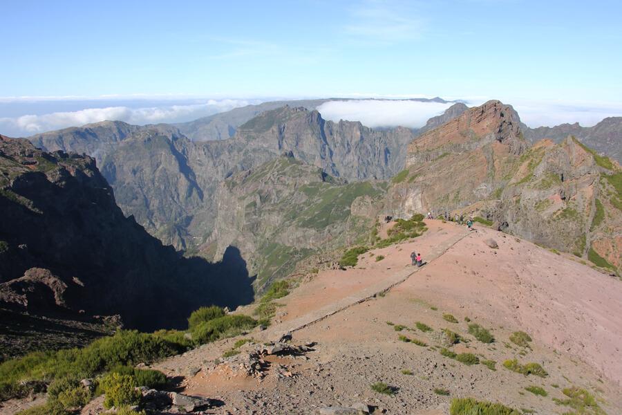 Aussicht auf die Gipfel von Madeira