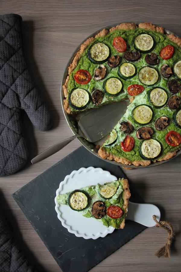 vegane bärlauch-quiche