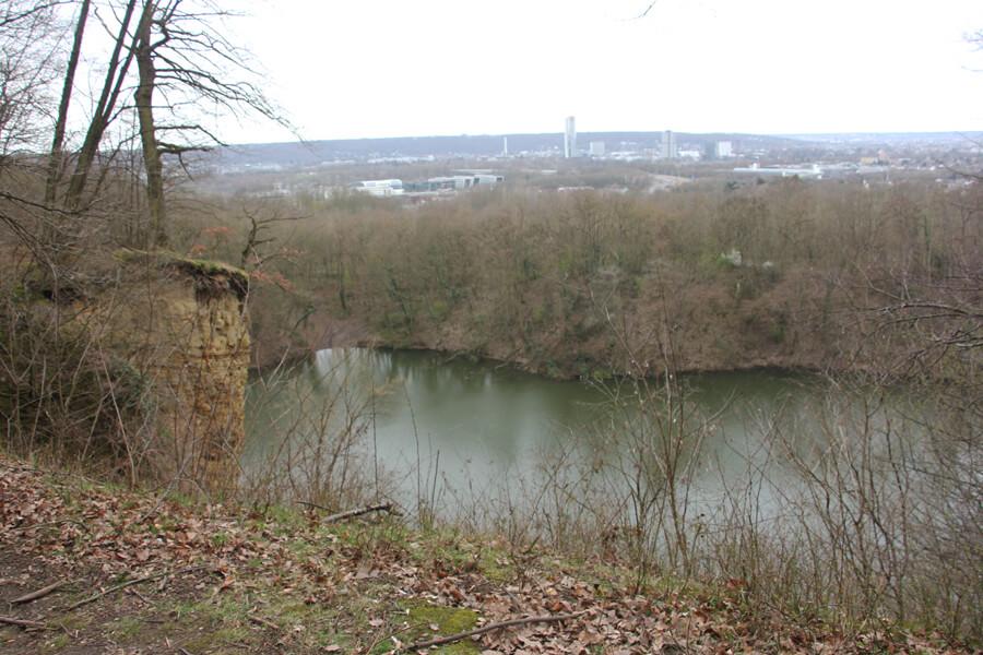 Blick auf den Dornheckensee, bei Bonn.