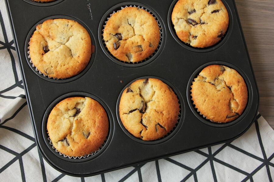 Schoko-Banenen Muffins