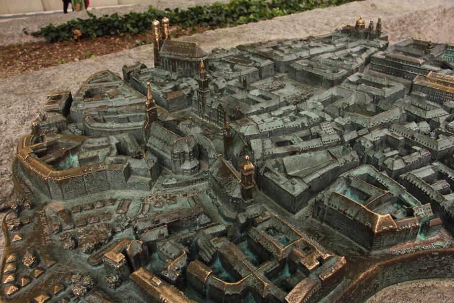 Modell der Altstadt von München